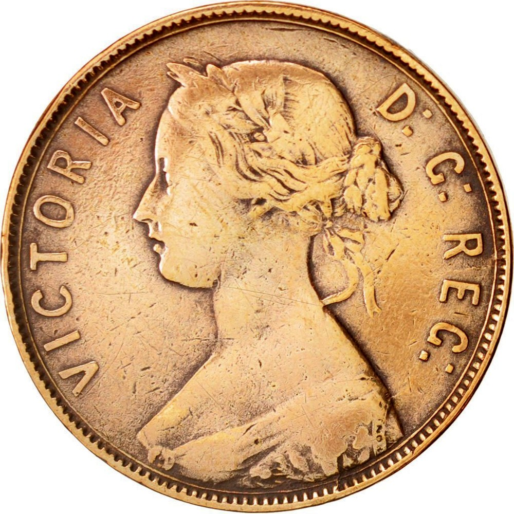 1896 Large Canadian One Cent