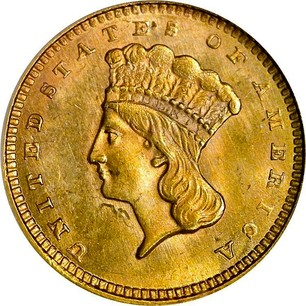 Usa Gold Dollar Quot Indian Head Type 3 Quot 1856 1889 Coin
