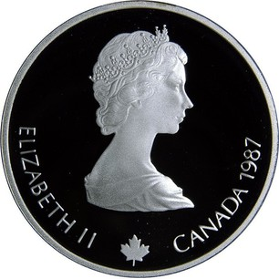 1987 CANADA 25 CENTS PROOF-LIKE COIN