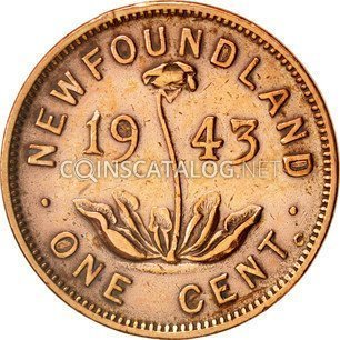 Canadian One Cent Quot George Vi Quot 1938 1947 Coin Value Km 18 Coinscatalog Net