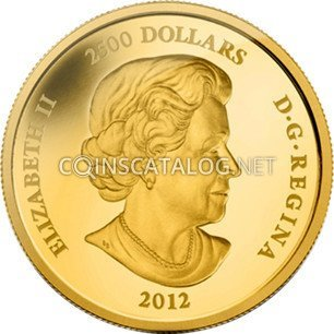 ***  CANADA  2012  GOLD  PLATED   SILVER  DOLLAR  *** GEM  CONDITION ***