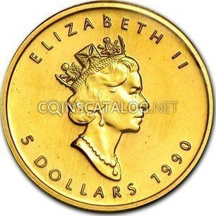 Canadian 1 10 Oz Gold 5 Dollars Quot Maple Leaf Quot 1990 2003