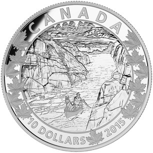 NT 2015Magnificent Mountains-Canoe Across Canada Prf $10 Silver.9999Fine 17291