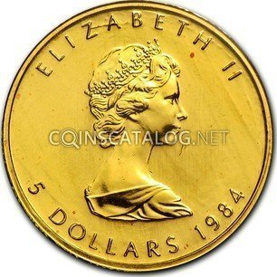 Canadian 1 10 Oz Gold 5 Dollars Quot Maple Leaf Quot 1982 1989