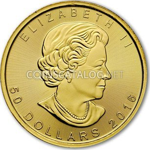 Canadian 1 Oz Gold 50 Dollars Quot Maple Leaf Quot 2013 2019 Coin
