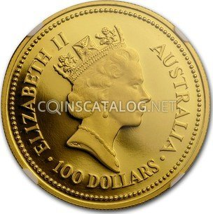 Australian 1 Oz Gold 100 Dollars Quot The Australian Nugget Quot 1988 Coin Value Km 107 Coinscatalog Net