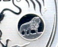 """Illustration of the specifics of the 1 Oz Silver 1 Dollar """"Year of the Dragon. Lion Privy"""" 2012 KM# 1664.1"""