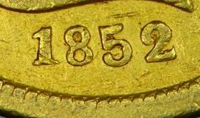 Ten D. Moffat & Company 1852 KM# 39.1 identifier photo title: