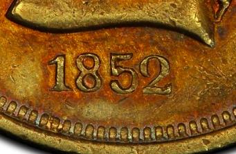 Ten D. Moffat & Company 1852 KM# 39.2 identifier photo title: