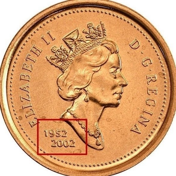 "1 Cent ""Elizabeth II 3rd portrait"" 2002 KM# 445 identifier photo title:"