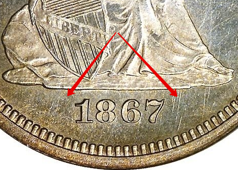 Obverse: No arrows at date obverse