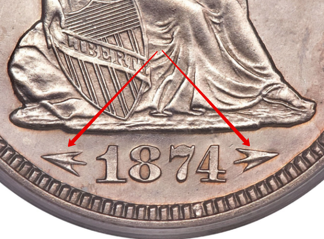 Obverse: Arrows at date obverse