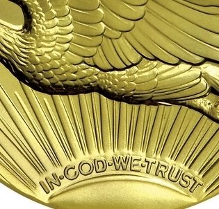 """Illustration of the specifics of the Gold Twenty Dollars """"St. Gaudens Double Eagle - Ultra high relief"""" 2009 KM# 464"""