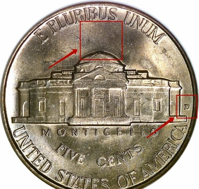 "Five Cents ""Monticello"" 1946 - 2003 KM# A192 identifier photo title:"