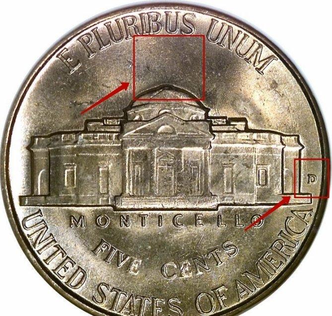 """Five Cents """"Jefferson Nickel"""" 1938 - 1942 KM# 192 identifier photo title:"""