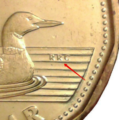 """Illustration of the specifics of the Dollar """"Loonie"""" 2012 - 2021 KM# 1255"""