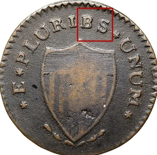 Reverse: PLURIBUS misspelled PLURIBS on the reverse