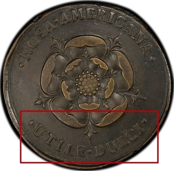 2 Pence Rosa Americana 1723 KM# 7 identifier photo title: