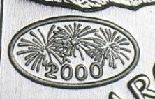 """Illustration of the specifics of the 1 Oz Silver 5 Dollars """"Maple Leaf"""" 2000 KM# 363"""