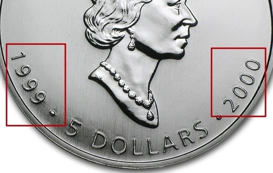 Canadian 1 Oz Silver 5 Dollars