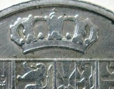 """Illustration of the specifics of the Silver 50 Francs """"Leopold III"""" 1940 KM# 122.3"""
