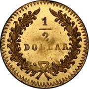 USA 1/2 Dollar Large Indian Head (Round) 1868 KM# 12.1 1/2 DOLLAR coin reverse