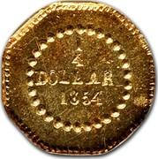 USA 1/4 Dollar 1854 BG-103, BG-104, BG-105 KM# 1.1 Small size Gold Coins 1/4 DOLLAR *YEAR* coin reverse