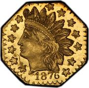 USA 1/4 Dollar Indian Head (Octagonal) 1876 KM# 2.2 *YEAR* coin obverse