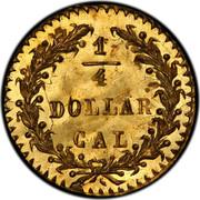 USA 1/4 Dollar Large indian Head (Round) 1876 KM# 6.2 1/4 DOLLAR CAL. coin reverse
