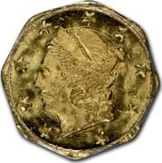 USA 1/4 Dollar Liberty (Octagonal) 1871 KM# 1.11 1872 coin obverse