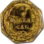 USA 1/4 Dollar Liberty Octagonal 1873 KM# 1.3 1/4 DOLLAR CAL. coin reverse