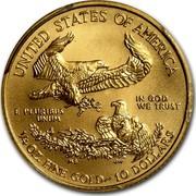 USA 10 Dollars American Eagle 2014 KM# 217 UNITED STATES OF AMERICA IN GOD WE TRUST E PLURIBUS UNUM 1/4 OZ. FINE GOLD ~ 10 DOLLARS coin reverse