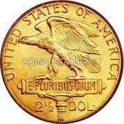 USA $2.50 Two and half Dollars (Quarter eagle) Panama-Pacific Exposition 1915 S KM# 137 UNITED STATES OF AMERICA E·PLURIBUS·UNUM 2½DOL· coin reverse