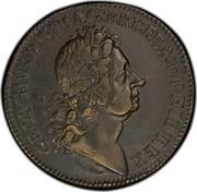 USA 2 Pence 1723 KM# 7 Rosa Americana GEORGIVS∙D:G:MAG:BRI:FRA:ET∙HIB:REX coin obverse