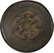 USA 2 Pence 1723 KM# 7 Rosa Americana ∙ROSA∙AMERICANA∙ ∙UTILE∙DULCI∙ coin reverse