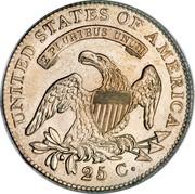 USA 25 C. Liberty Cap Quarter 1825/24 KM# 44 UNITED STATES OF AMERICA 25 C. E PLURIBUS UNUM coin reverse