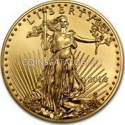 USA $25 Twenty five Dollars American Gold Eagle 2014 KM# 218 LIBERTY W ASG coin obverse