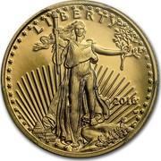 USA 5 Dollars American Eagle 2016 W KM# 216 LIBERTY W ASG coin obverse