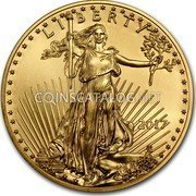 USA $50 Fifty Dollars American Gold Eagle 2017 KM# 219 LIBERTY W ASG coin obverse