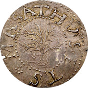 USA 6 Pence Oak tree 1652 KM# 9 MASATHVSETS ∙ IN coin obverse