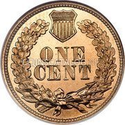 USA Cent Indian Head Cent 1862 KM# 90 ONE CENT coin reverse