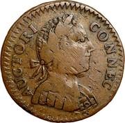 USA Connec 1786 KM# 4 Connecticut Coppers AUCTORI CONNEC coin obverse