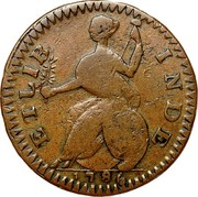 USA Connec 1786 KM# 4 Connecticut Coppers ETLIB INDE coin reverse