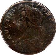 USA Connec. 1788 KM# 22.2 Connecticut Coppers AUCTORI. CONNEC. coin obverse