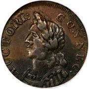 USA Connec Hercules Head 1786 KM# 7 AUCTORI : CONNEC : coin obverse