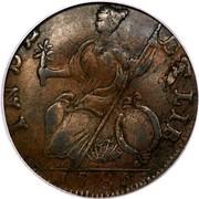USA Connec Hercules Head 1786 KM# 7 INDE ETLIB coin reverse