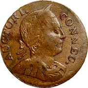 USA Connec. Large Head Facing Right 1786 KM# 6 AUCTORI. CONNEC. coin obverse