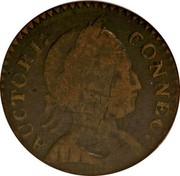 USA Connec Mailed Bust Facing Left 1786 KM# 5 AUCTORI: CONNEC : coin obverse