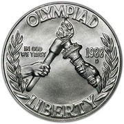 USA Dollar 1988 Olympics 1988 D KM# 222 OLYMPIAD IN GOD WE TRUST LIBERTY coin obverse