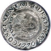 USA Dollar Continental Dollar 1776 KM# EA1 CONTINENTAL CURRENCY FUGIO MIND YOUR BUSINESS coin obverse